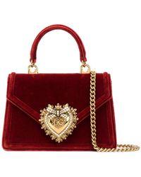 Dolce & Gabbana - Devotion ベルベット ミニバッグ - Lyst