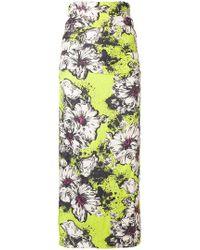 Miu Miu - Floral Print Midi Skirt - Lyst