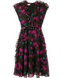 Giamba ローズプリント ドレス - マルチカラー