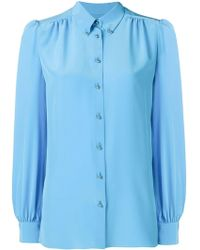 Emilio Pucci Turquoise Silk Button-down Shirt - Blue