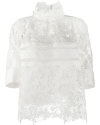Sacai Lace Loose-fit Blouse - White