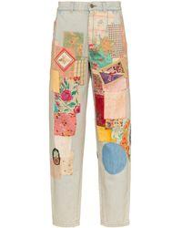 Gucci - Vaqueros descoloridos en patchwork - Lyst