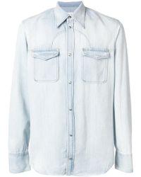 Maison Margiela Classic Denim Shirt - Blue