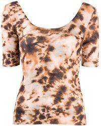 Nanushka Mesh Tie-dye T-shirt - Multicolour
