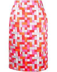 Mary Katrantzou Sigma Lego Print Skirt - Rood