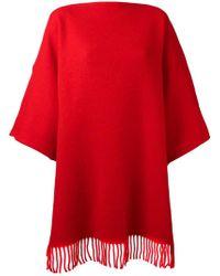 Tsumori Chisato - Blanket Fringed Poncho - Lyst