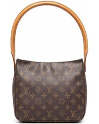 Louis Vuitton Сумка-тоут Pre-owned С Монограммой - Коричневый