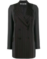 McQ Striped double-breasted jacket - Nero