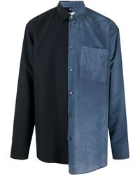 OAMC カラーブロック シャツ - ブルー