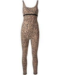 The Upside Animal-print Catsuit - Brown