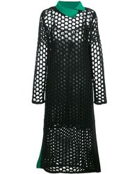 3.1 Phillip Lim オープンニット ドレス - ブラック