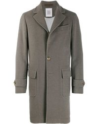 Eleventy Single-breasted Cashmere Coat - Gray
