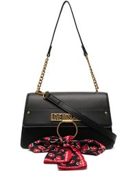Love Moschino Bow-detail Shoulder Bag - Black
