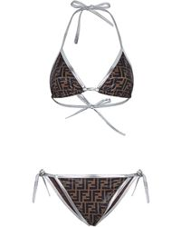 Fendi Bikini Met Monogramprint - Bruin