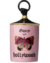 Gucci Butterfly Print Candle - Pink