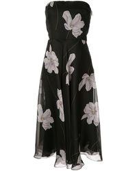 Ralph Lauren Collection フローラル ドレス - ブラック