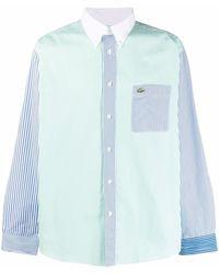 Lacoste L!ive Two-tone Cotton Shirt - Blue
