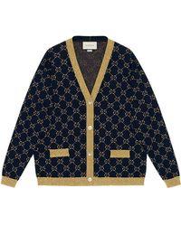Gucci - GG Cotton Lurex Cardigan - Lyst