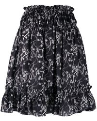 KENZO Smocked Waist Mini Skirt - Black