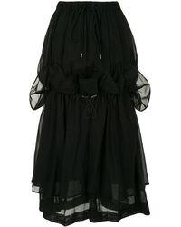 Enfold レイヤード フリル スカート - ブラック
