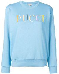 Emilio Pucci ロゴ セーター - ブルー