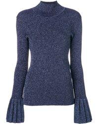 Carven タートルネック セーター - ブルー