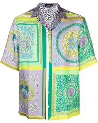 Versace Barocco Mosaic-print Shirt - Purple