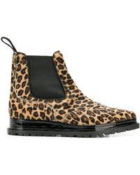 Sacai - Leopard Print Chelsea Boots - Lyst