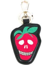 Paul Smith Strawberry Skull Keyring - Black
