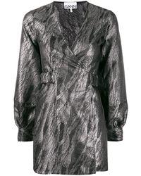Ganni - メタリック ドレス - Lyst