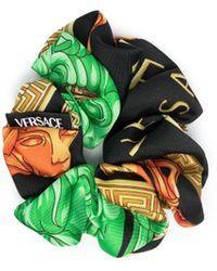 Versace Scrunchie mit Print - Schwarz