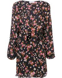 A.L.C. Robe courte à fleurs - Noir