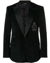 Dolce & Gabbana - ロゴパッチ ジャケット - Lyst