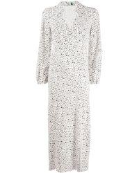 RIXO London Blair アイレットレースドレス - ホワイト