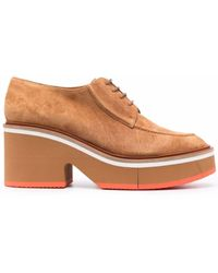 Clergerie Anja Suede Lace-up Shoes - Brown