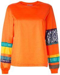 Kolor Striped Sleeve Sweatshirt