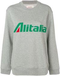 Alberta Ferretti - 'alitalia' Sweatshirt - Lyst