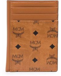 MCM Visetos モノグラム カードケース - ブラウン
