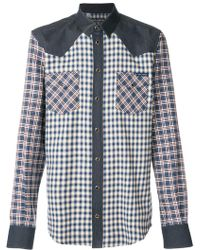 Dolce & Gabbana - Contrast Checked Shirt - Lyst