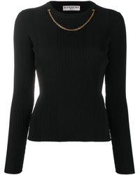 Givenchy - チェーントリム リブニットセーター - Lyst