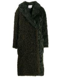 3.1 Phillip Lim Faux Shearling Mohair Coat - Black