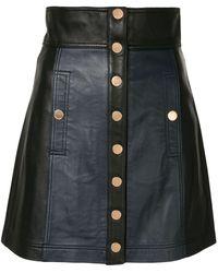 Alice McCALL レザー ミニスカート - ブラック
