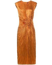 Sies Marjan Плиссированное Платье - Желтый