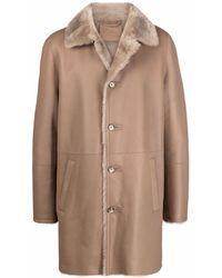 DESA NINETEENSEVENTYTWO Buttoned-up Shearling Coat - Multicolor