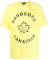 DSquared² T-shirt Met Print - Geel