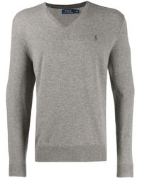 Polo Ralph Lauren Vネック セーター - グレー