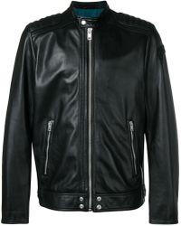 DIESEL Leather Jacket - Black