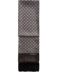 Dolce & Gabbana パターン シルクスカーフ - ブラウン