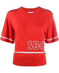 See By Chloé Jumper With Logo - Red