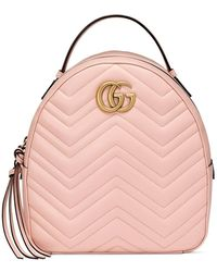 Gucci Marmont Quilted Leather Backpack